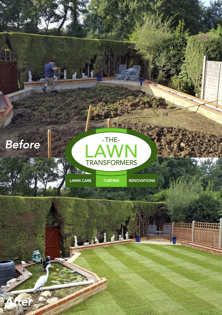 Garden-levelling-and-new-lawn-turf-laying-Maidstone-ME14-ME15